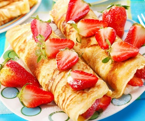 chocolate, crepes, and food image
