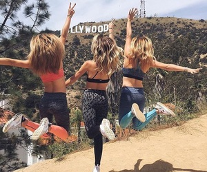fitness, girls, and hollywood image