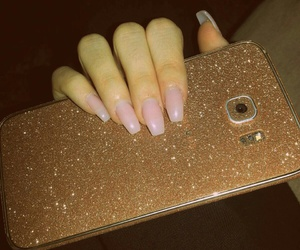 case, glitter, and long nails image