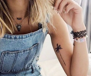 tattoo, girl, and summer image