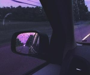 purple, car, and rain image