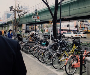 bicycle, japan, and lifestyle image