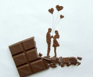 chocolate, love, and art image