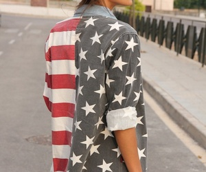 american flag, spring, and fashion image
