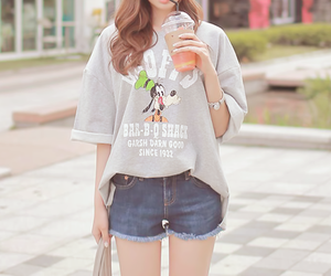 casual, kfashion, and shorts image