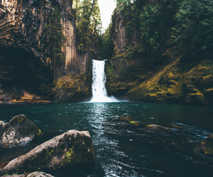 travel, waterfall, and nature image