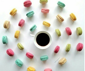 black, coffee, and colorful image