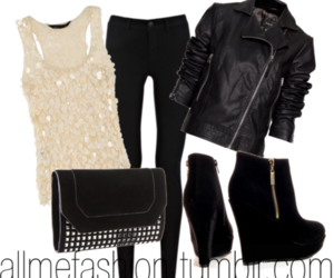 boots, jacket, and leather image