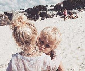 beach, kids, and baby image