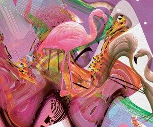 acid, art, and pink image