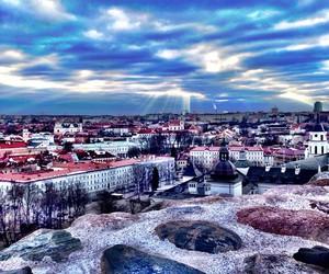 city, Lithuania, and sky image