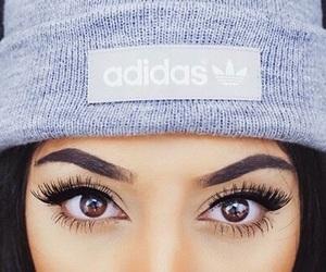 adidas, eyes, and makeup image
