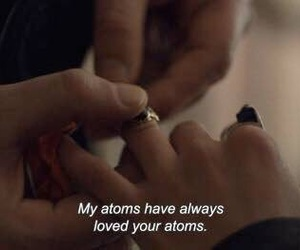 atoms, grunge, and hands image