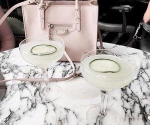 drink, bag, and pink image