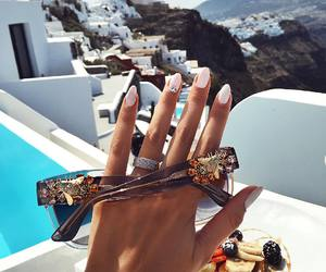 nails, summer, and sunglasses image