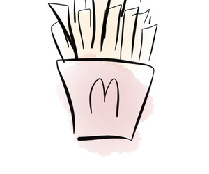 blonde, chips, and fastfood image