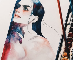 art, drawing, and paint image