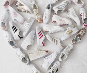 adidas, shoes, and heart image