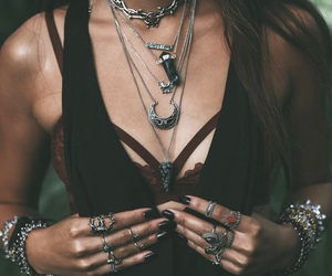 alternative, necklaces, and rings image