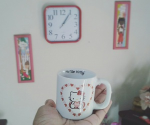 beautiful, clock, and cup image