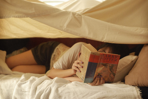 girl, book, and harry potter image