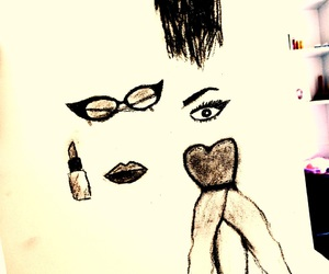 draw, hairstyle, and lips image