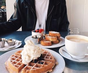 food, waffles, and breakfast image