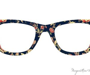 glasses and flowers image