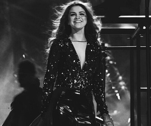 selena gomez, revival tour, and black and white image