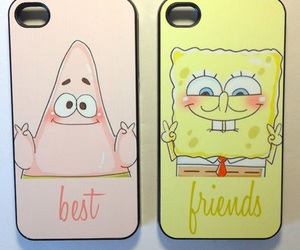best friends, patrick, and iphone image