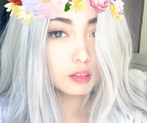 asian, flower, and flower crown image
