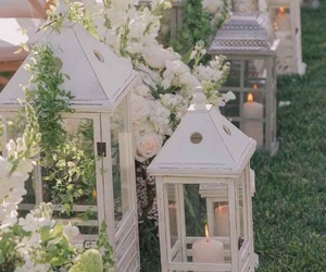 candles, lamp, and garden image