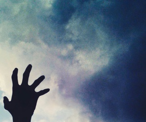 clouds, vintage, and hand image
