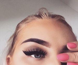 makeup, eyebrows, and nails image