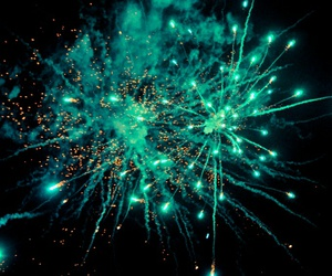 fireworks, light, and green image