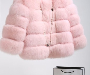 chanel, pink, and fur image
