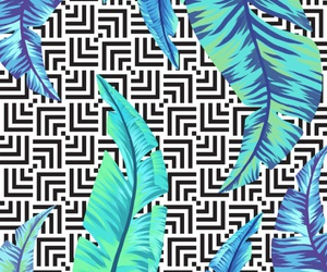 background, blue, and leaves image
