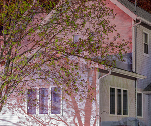 pink, house, and grunge image