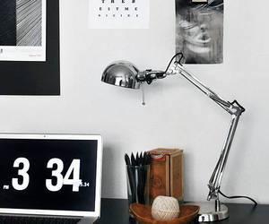 design, desk, and interior image