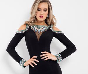 black dress, cocktail dress, and dress image