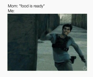 food, the maze runner, and funny image