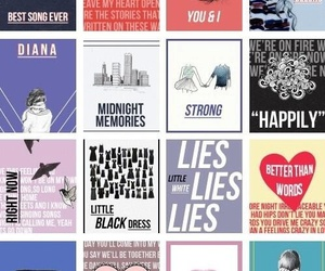 one direction, midnight memories, and song image