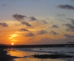 beach, pordosol, and lovebeach image