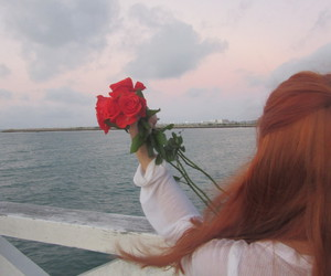 beach, flowers, and ginger image