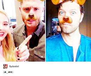 boys, dean winchester, and dog image