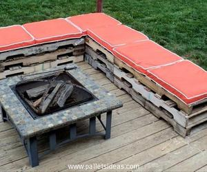pallet deck furniture, pallet lounge furniture, and pallet patio furniture image