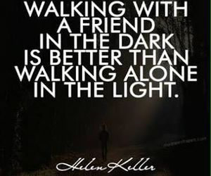 quote, friends, and dark image