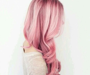 hair, pink, and hair style image