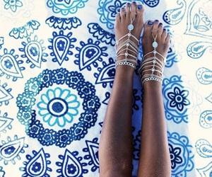 summer, blue, and boho image