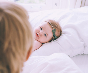 baby, bedroom, and family image